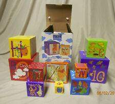 Disney Winnie Pooh 10 Sturdy Stacking/Nesting Block Boxes