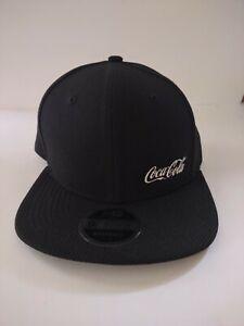 COCA-COLA hat black adjustable flat wide brim cap New Era 9Fifty wide brim.