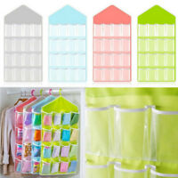 16 Pockets Clear Over Door Hanging Bag Shoe Rack Hanger Storage Organizer Nice