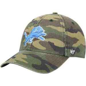 Detroit Lions '47 Camo Clean Up Adjustable On Field Cotton Hat NFL