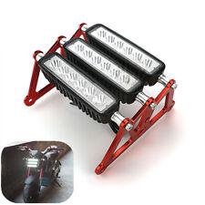 3Row LED Motorcycle Headlight Fog Light Aluminum For Honda Grom MSX125 2013-2019