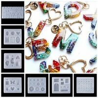 Crystal Jewelry Making Tool Epoxy Keychain Mold DIY Resin Mould Silicone Molds