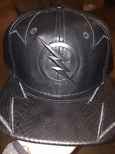 Marvel Comics THE FLASH DR. ZOOM Suit Up Leather SnapBack Hat. NWT. One Size