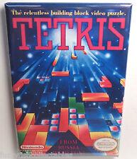 "Tetris MAGNET 2""x3"" Refrigerator Locker Nintendo NES Vintage Game Box"