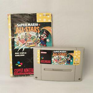 Super Nintendo SNES - Super Mario All-Stars + Manual