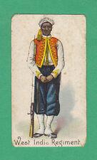 R. & J. HILL LTD. - VERY RARE MILITARY CARD  -  WEST  INDIA  REGIMENT  -  1901