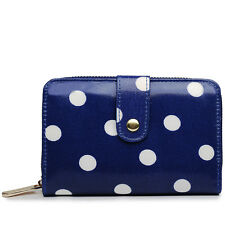 Ladies Girls Butterfly Polka Dot Flower Horse Compact Purse Clutch Wallet Coin