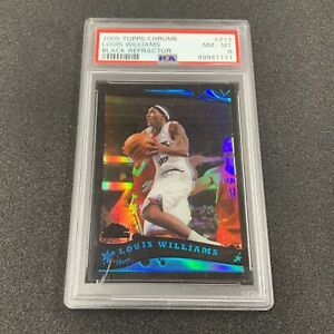 2005-06 Topps Chrome Louis Lou Williams RC Black Refractor /399 PSA 8