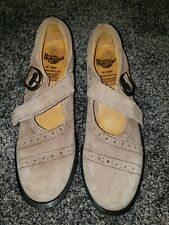 Dr. Martens Rose Taupe Suede Heel Mary Janes-4 Repair- Made in England Uk6 /Us8