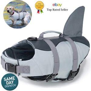 Pet Dog Life Jacket Buoyancy Aid Small-XLarge Swimming Float Vest Sailing Aid UK