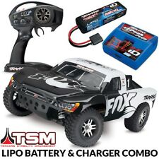 Traxxas Slash 4x4 VXL Brushless RTR Short Course RC Truck FOX Racing LIPO COMBO