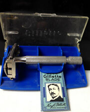 Vintage GILLETTE RAZOR Made in England with Blue Gillette Blade