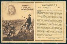 Militari Preghiera del Soldato Italiano Bersaglieri Alpini cartolina XF1097