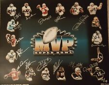 SUPER BOWL MVP PHOTO PRINT SIGNED BY (15) MVP'S - MONTANA RICE AIKMAN - LE 11/18