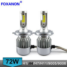 H4 C6 COB LED Headlight Turbo Light Bulbs 6000K for Honda Nissan Car