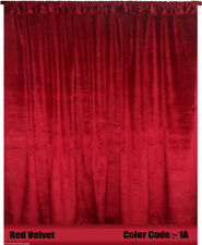 Saaria Velvet Curtain Panel Drape Home Theater Curtain Backdrop 11'W x 7'H Red1A