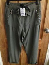 Next Soft Green Cargo Trousers Size 14R