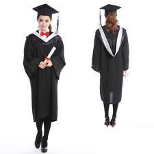 Graduation University Bachelor Costumes Gown Cap Tassel Hanging Cloth Set Unisex