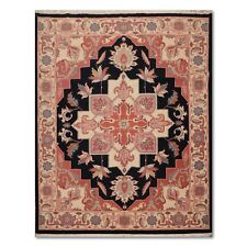"7'9"" x 9'8"" Rare Romanian Heriz Hand Knotted 100% Wool Persian Oriental Area Rug"