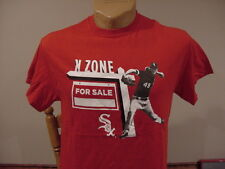 SWEET Chicago White Sox Men's Md Chris Sale K-Zone Red Cotton T-Shirt, VERY NICE
