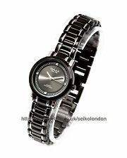 Reloj de mujer con Cuadrante Negro Omax, acabado negro, Seiko (Japón) Movt. RRP £ 49.99