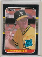 1987 DONRUSS==RATED ROOKIE #-46 MARK McGWIRE==OAKLAND A's