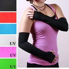 Long Black Shiny Arm Warmers PVC Fingerless Gloves Vinyl Costume Fetish Diy 1238