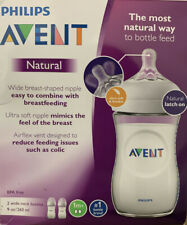 Philips Avent Natural baby bottles (Clear) 9oz, 2 Pack- New