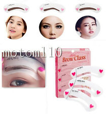 3 Styles DIY Eyebrow Stencil Eye Brow Kit Liner Shaper Beauty Make Up Template#