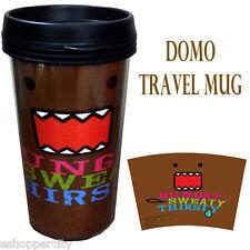 DOMO 16 oz Travel Plastic Coffee Mug, Liscensed Product Gift Dark Brown Tumbler