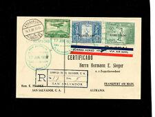 Zeppelin Sieger 419var 1936 3rd LZ 129  North America Flight  El Salvador Treaty
