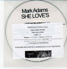 (DD670) Mark Adams, She Loves - 2012 DJ CD