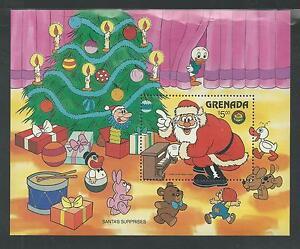 GRENADA # 1415 MNH DISNEY, SANTA'S SURPRISES, CHRISTMAS 1986 Souvenir Sheet