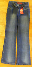 "Mix Design Mid Rise Jeans ""Crazy Daisy"" Wide Boot Cotton Blend Size 27 - CL0152"
