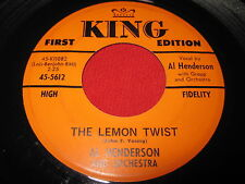 OLDIES 45 - AL HENDERSON - THE LEMON TWIST / ALL STAR BOY - KING 5612