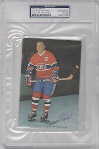 Maurice Richard Montreal Canadians Signed AUTOGRAPH 4 x 6 Photograph PSA DNA
