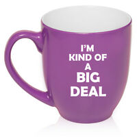 16oz Bistro Mug Ceramic Coffee Tea Glass Cup Funny I'm Kind Of A Big Deal