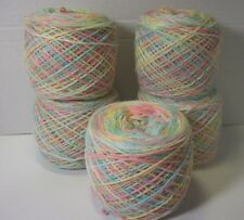 acrylic baby yarn 3 ply blue,green,pink,yellow,white 14.4 oz   wound into balls