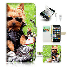 ( For iPhone 5 / 5S / SE ) Wallet Case Cover PB10539 Motorcycle Dog