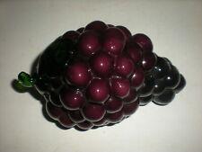 vtg Murano Style Glass Fruit Grapes