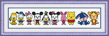 "NEW Cross Stitch Kits"" Happy Disney cartoon """