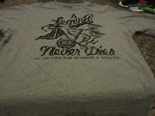 """Parish Coliseum T-Shirt - Gray - Large - """"A Legend Never Dies"""""""