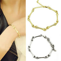 Fashion Punk Rock Cool Unique Skull Bone Linked Bone Style Bangle Bracelet WWW