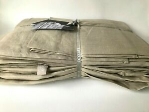 Libeco Home King Sheet Set Flat + Fitted + 2 Cases SANTIAGO 100% Linen - Stone