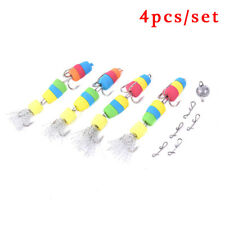 Fishing Lure 4pcs Jig Swivel Soft Lure Insect Bait Floats Fishing Accessories Bh