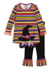 BONNIE JEAN Toddler Girl 3T Halloween Witches Hat Top & Leggings Set NWT $55