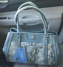 SIMPLY VERA WANG NWT $99 sage green snake HATFORD SATCHEL grey faux leather