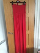 M & S Maxi Beach Dress Red Medium New with Tags