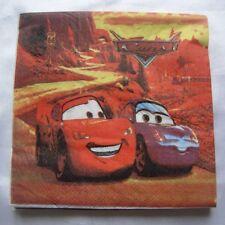 20 Birthday Party Napkins Tableware,Disney Cars