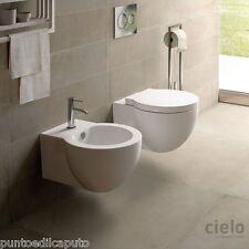 Sanitari bagno sospesi easy bath evo water bidet e copriwater di Ceramica Cielo